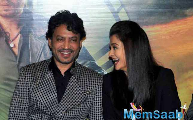 Aishwarya Along With Her Co-Star Irrfan Khan Launched Trailer Of Their Upcoming Film, 'Jazbaa'