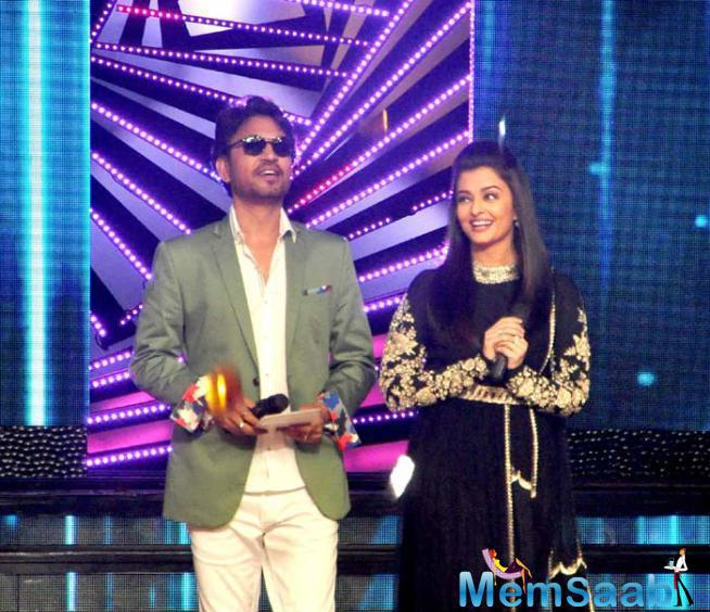 Irrfan And Aishwarya On The Sets Of DID For Jazbaa Promotion