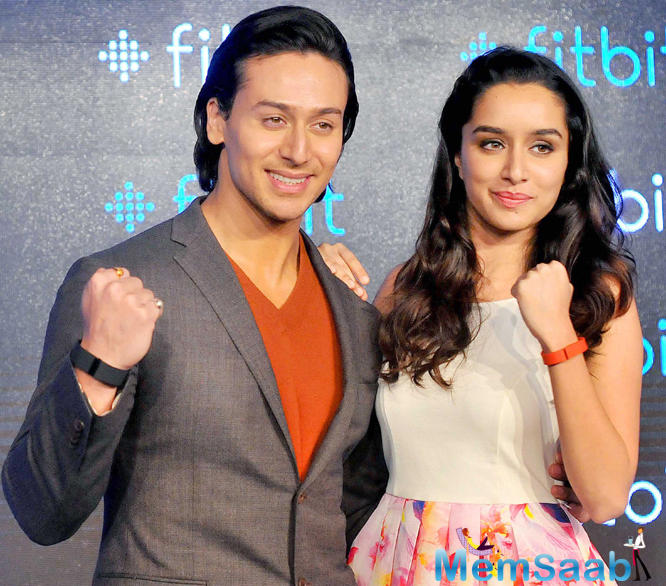 Tiger Shroff And Shraddha Kapoor Both Are Looking Stunning At The Launch Of Fitbit In Delhi