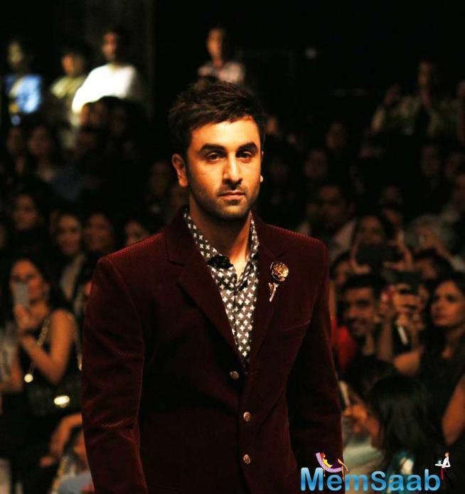 Ranbir Kapoor Looked Dapper In An Intricately Designed Burgundy Velvet Jacket