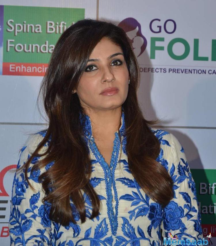 Raveena Tandon Promotes Go Folic Initiative Campaign