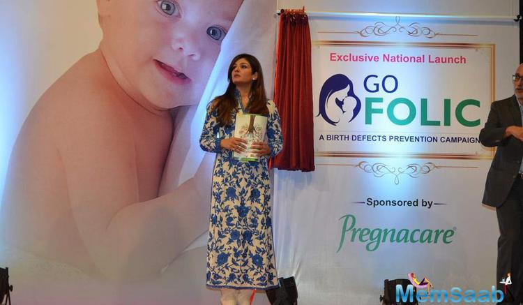 Raveena Tandon Unveils A Birth Defect Awareness Campaign