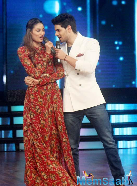 Athiya Shetty And Sooraj Pancholi Promote Their Upcoming Flick Hero On The Sets Of DID 5
