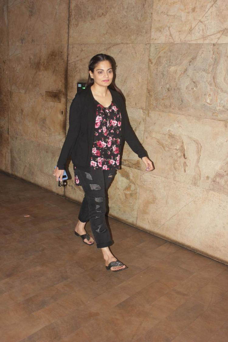 Alvira Khan Arrived To Attend The Screening Of Hollywood Movie Transporter Refuelled