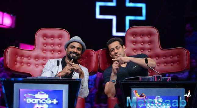 Salman And Remo Pose Dance Plus During Hero Promotion