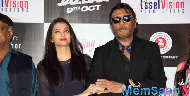 Aishwarya And Jackie Share A Moment On Stage During Bandeyaa Song Launch Event