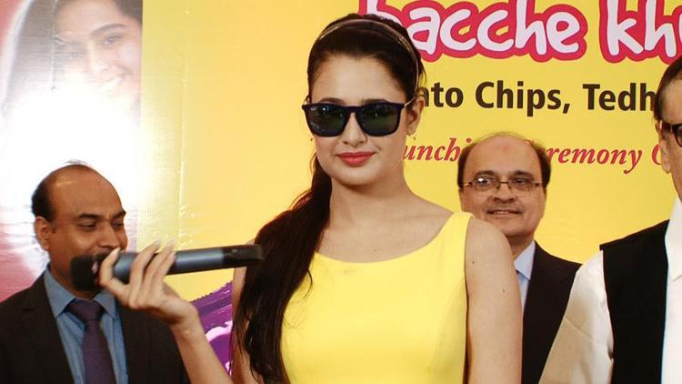 Yuvika Chaudhary Beautiful Look During The Launch Of Harley Food
