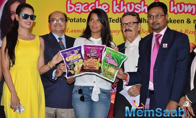 Yuvika Chaudhary,Mugdha Godse And Parikshit Sahni Launched Harley Food