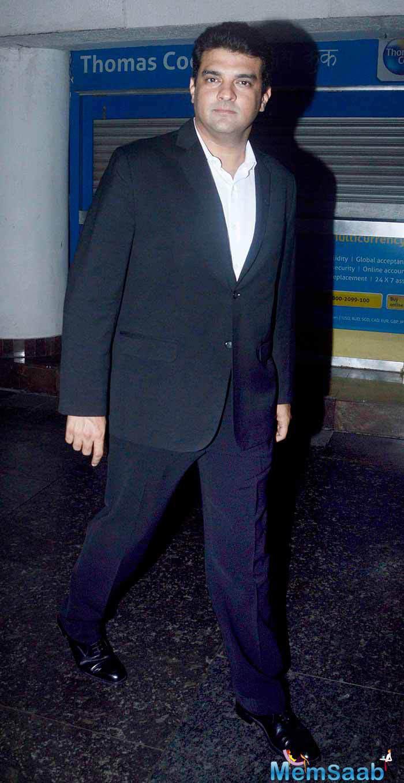 Siddharth Roy Kapur Snapped At The Screening Of Hero Movie