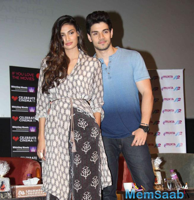 Athiya Shetty And Sooraj Pancholi Promote Their Hero Movie At Whistling Woods