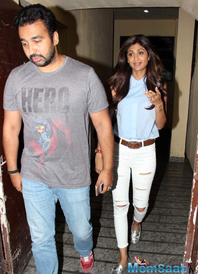 Shilpa Shetty And Husband Raj Kundra Enjoyed A Weekend Movie Date