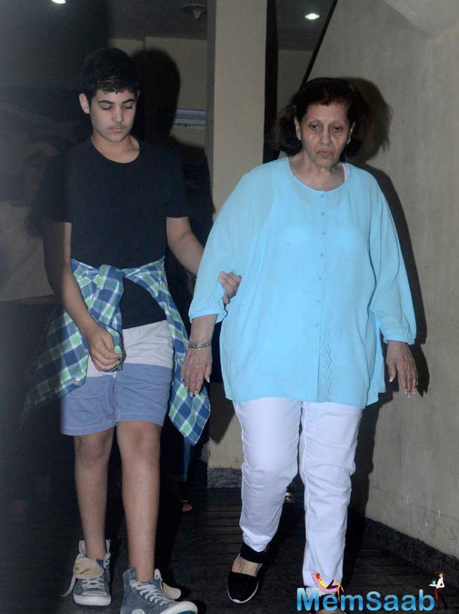 Aarav Is The Gentleman To Grandmother On Movie Date