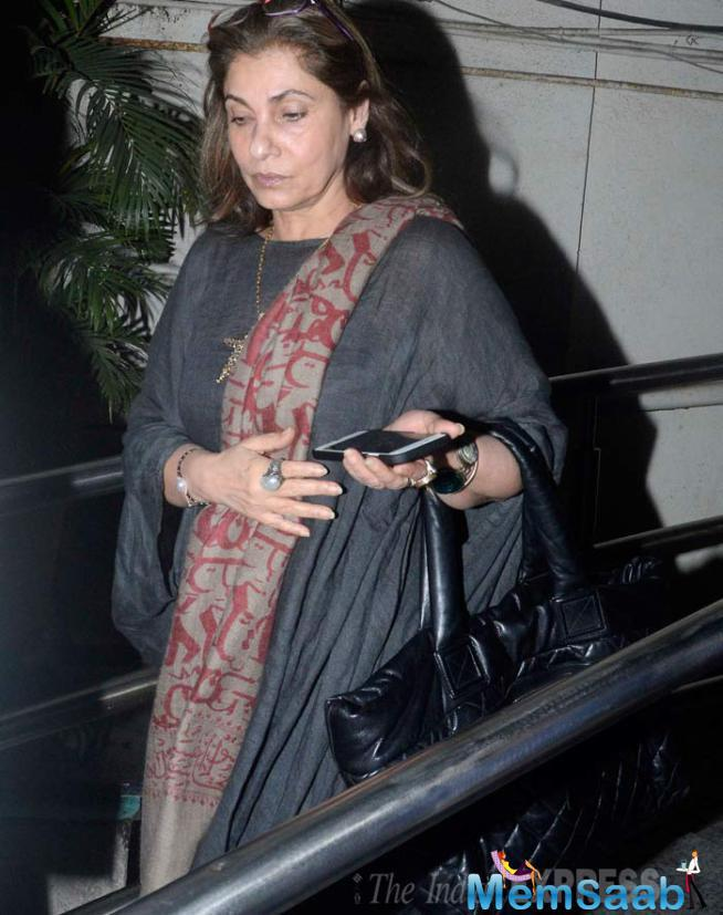 Dimple Kapadia Accompanied Her Daughter And Grandson To The Movies