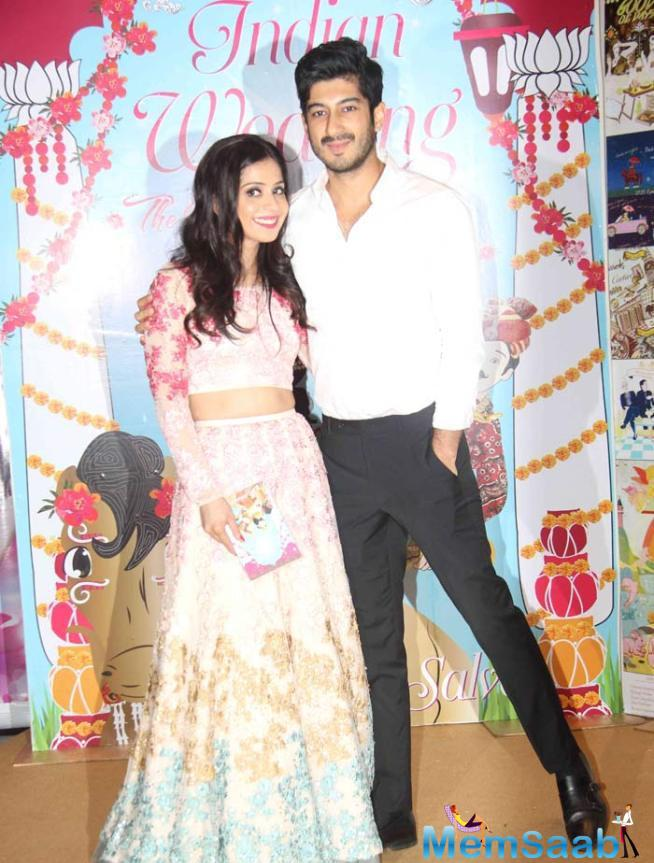 Actor Mohit Marwah Poses With Sakshi Salve At The Event