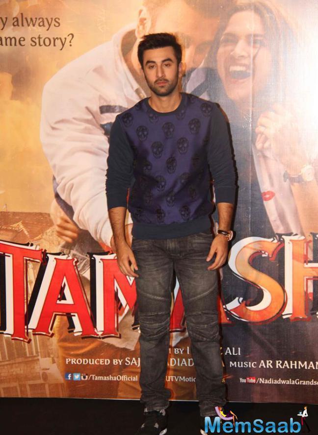 Ranbir Kapoor At The Trailer Launch Of  Tamasha In Mumbai