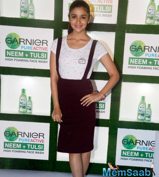 Alia Bhatt  Launch A New Garnier Face Wash In Mumbai