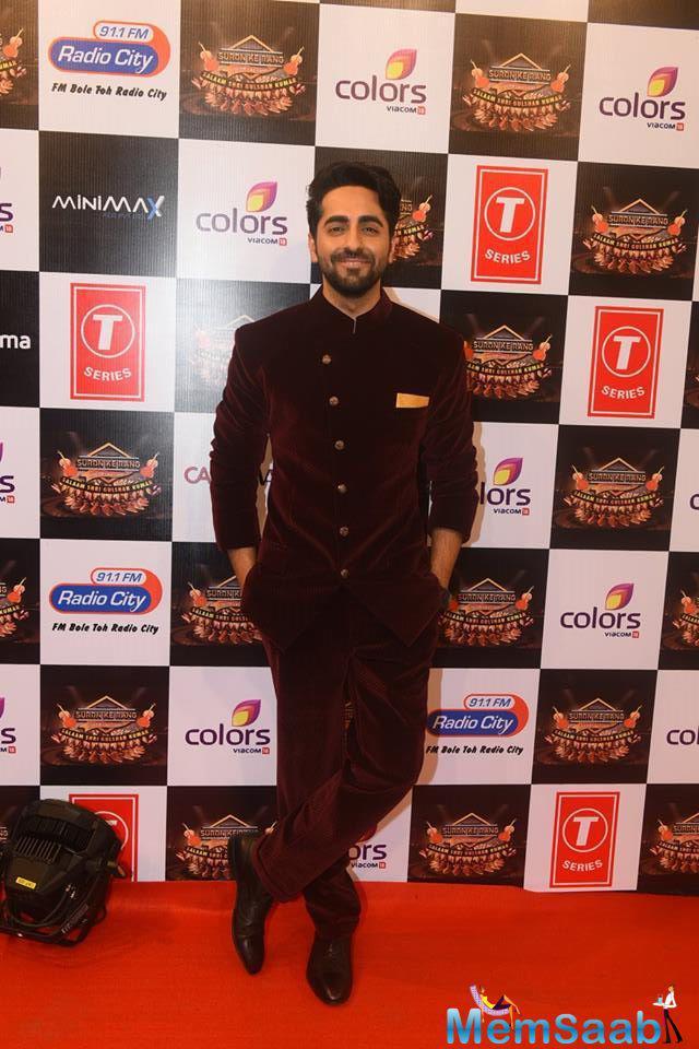 Ayushman Khurana Dazzled On Red Carpet At Suron Ke Rang Color Ke Sang Musical Event