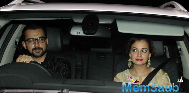 Dia Mirza Came To The Eid Party With Husband Sahil Sangha