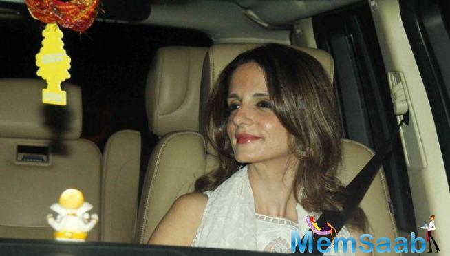Hrithik Roshan's Ex-Wife Sussanne Khan Arrives At The Venue