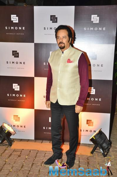 Akbar Khan Posed For Camera During The Anniversary Of Simone Khan Arora Store