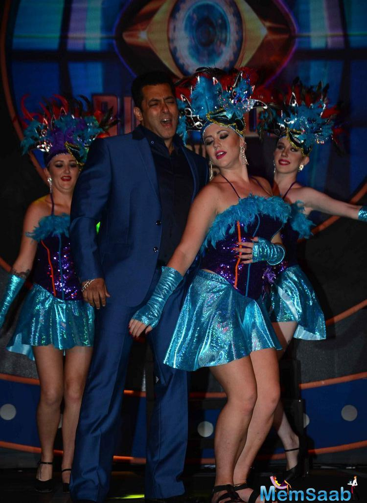 Salman Khan Performed During The Launch Of Bigg Boss Double Trouble