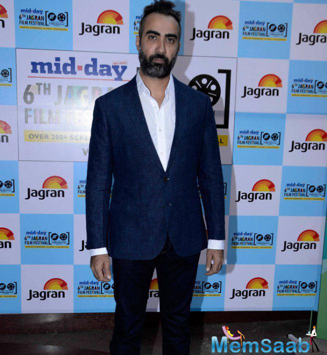 Ranvir Shorey Posed For Camera At The Opening Of 6th Jagran Film Fest