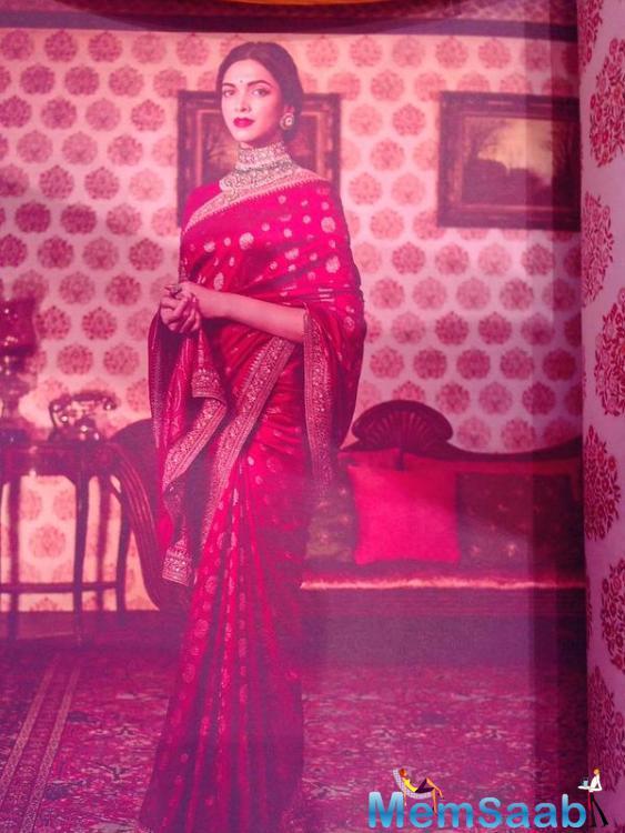 Deepika Padukone Dazzled In Kanjeevaram Saree