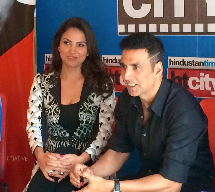 Lara Dutta And Akshay Kumar Interact With Audience At HT City