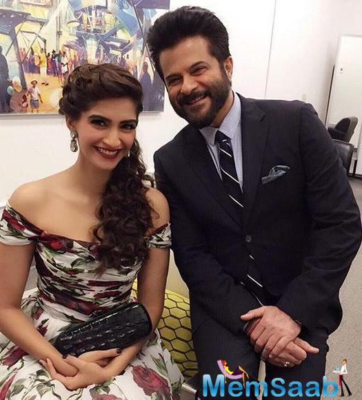 Father-Daughter Duo Anil And Sonam Made A Dazzling Appearance At The SAF