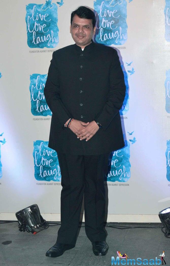 Maharashtra CM Devendra Fadnavis Graced At The Launch Of Deepika Padukone NGO Live Love Laugh