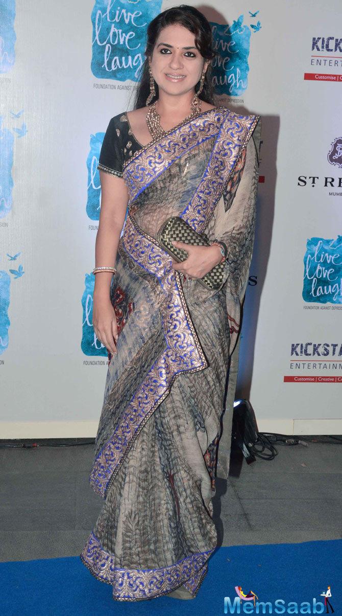 Shaina NC Smiling Pose At The Launch Of Deepika Padukone NGO Live Love Laugh