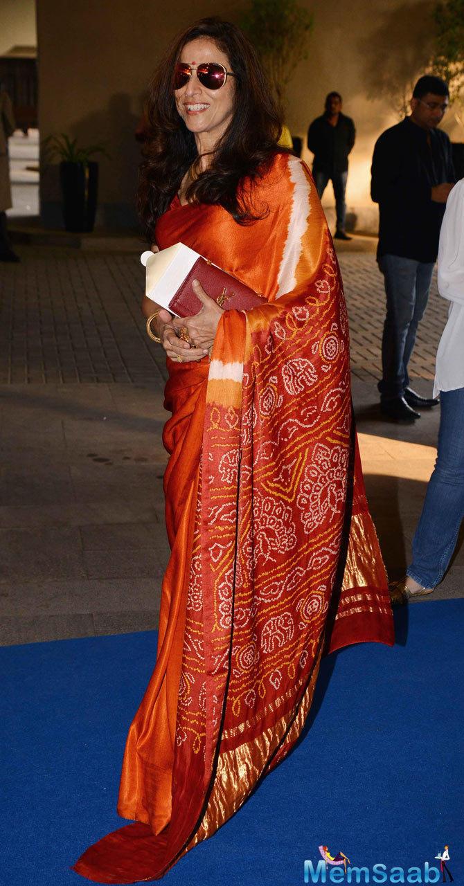 Shobhaa De Arrived The Launch Of Deepika Padukone NGO Live Love Laugh