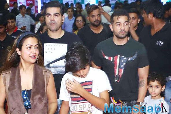 Amrita Arora And Arbaaz Khan With Family Snapped At Big Boys Toys Expo 2015