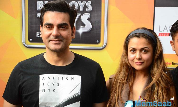 Arbaaz Khan And Amrita Arora Posed For Camera At Big Boys Toys Expo 2015