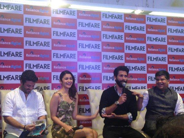 Alia Bhatt And Shahid Kapoor Attend The Press Meet At The Launch Of Filmfare Shaandaar Cover