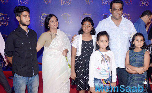 Anurag Basu And Family Clicked At The Disney Beauty And The Beast Red Carpet
