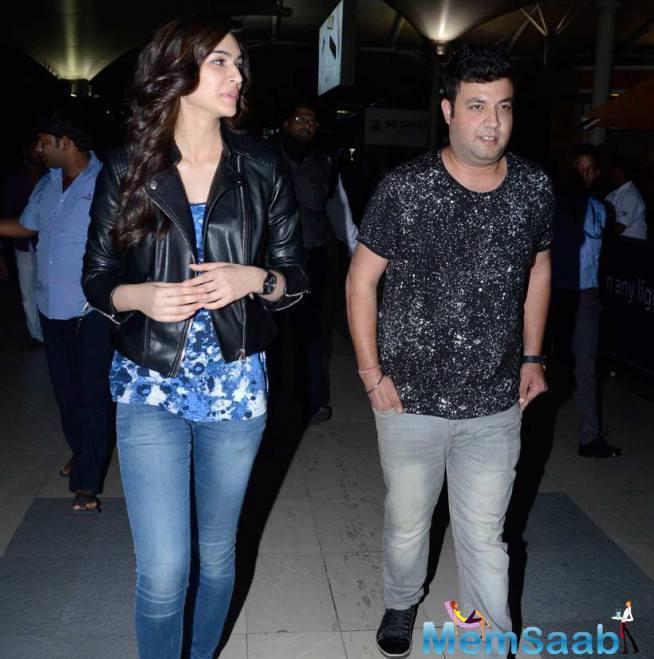 Varun Sharma And Kriti Spotted At Mumbai Airport