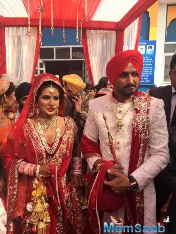 Harbhajan Singh And Geeta Basra Wedding Ceremony Still