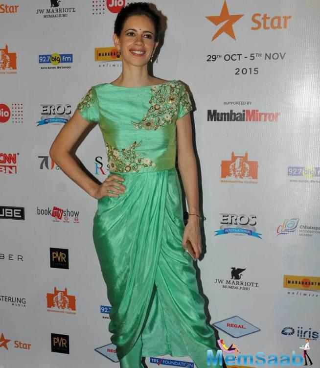 Kalki Koechlin, Who Was Anchoring The Evening, Was In A Green Tisha Saksena Dress.