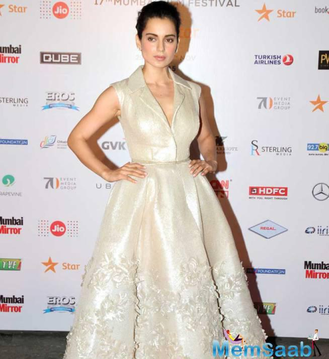 Kangana Ranaut On The Red Carpet During The Opening Ceremony Of