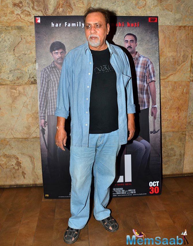 Lalit Behl Attend The Screening Of Titli Movie Hosted By Ranvir Shorey