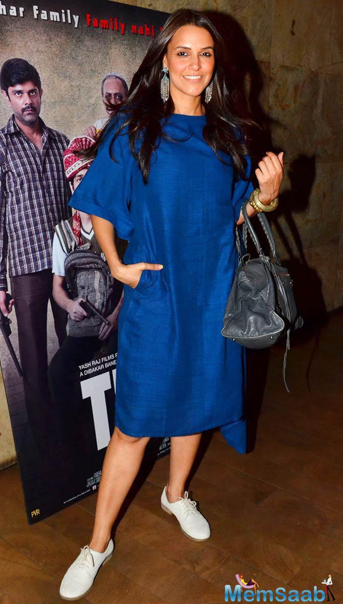 Neha Dhupia Looks Glamorous In Blue