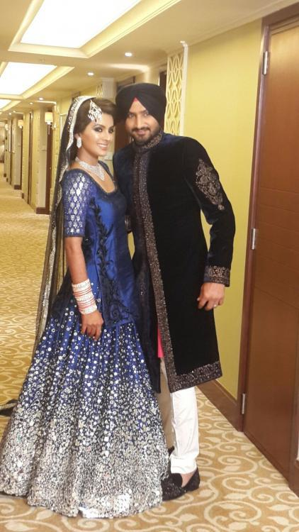 Geeta Basra And Harbhajan Singh At Their Star-Studded Wedding Reception