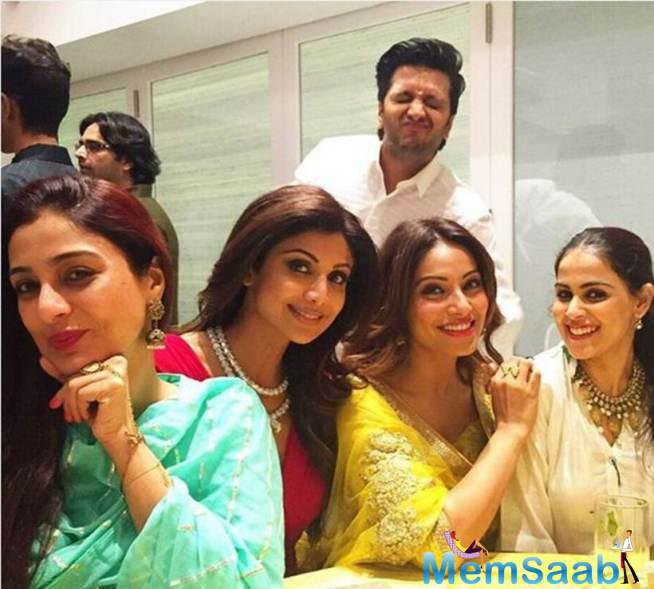 Bipasha Posted This Picture Of The Bollywood Beauties Sitting Together