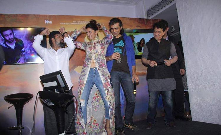 Deepika Padukone,Imtiaz Ali And Sajid Nadiadwala Enjoyed At The Wat Wat Song Launch Of Tamasha