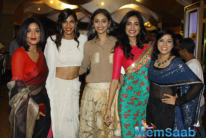 Sandhya,Anushka,Pavleen,Sara Jane And Rajshri Posed During Angry Indian Goddesses Screening