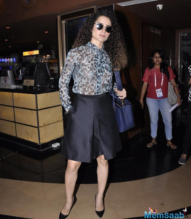 Kangana Ranaut Attends A Conversation On Women In Film At 17th Jio MAMI Mumbai Film Festival