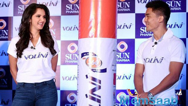 Sania Mirza And Sunil Chhetri Launched The Pain Reliever Brand Volini