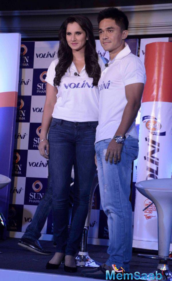 Volini Announces Sania Mirza And Sunil Chhetri As Brand Ambassadors