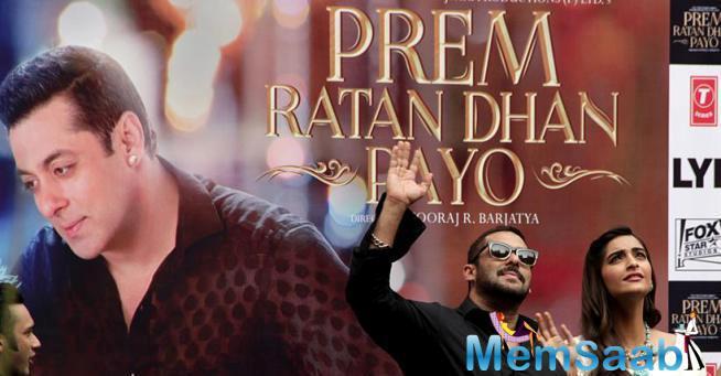 Salman And Sonam At Delhi To Promote 'Prem Ratan Dhan Payo